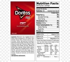 food label of doritos nachos cheese fries doritos fritos nutrition facts label cheese