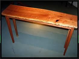 cherry sofa table. Custom Made Live Edge Cherry Hall/Sofa Table Sofa A