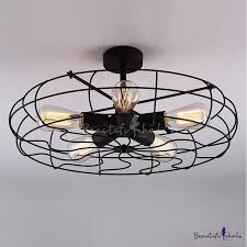 novelty loft industry wrought iron fan close to ceiling light beautifulhalo com
