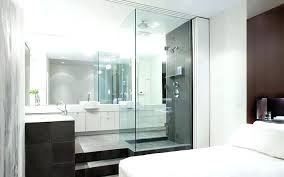 master bedroom with open bathroom. Bathroom In Bedroom Ideas Idea Glass Attached With Master Incredible Open