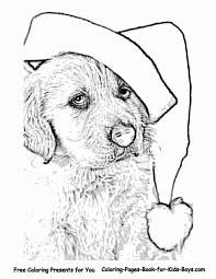 Small Picture Christmas Puppy Coloring Pages Miakenasnet