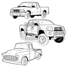How To Draw A Pickup Truck, Pickup Truck, Step by Step, Drawing ...