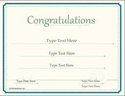congratulations certificate templates special certificates congratulations certificate
