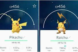 Pokemon Go Pikachu Evolution Chart Pokemon Go Evolution Chart
