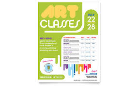 crafts classes for kids flyers art classes templates brochures flyers business cards