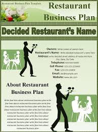example of a business plan 32 free restaurant business plan templates in word excel pdf