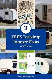 teardrop cer plans 11 free diy