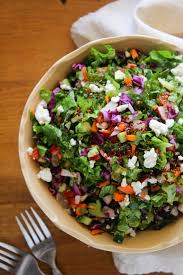 garden greens. Chopped Farm Salad With Quinoa And Loaded Garden Greens, Radish, Cucumber, Cabbage, Greens I