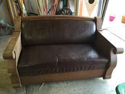 kroehler davenport couch hideaway bed