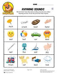 Rhyming-worksheets- & March Kindergarten Worksheets - Rhyming ...