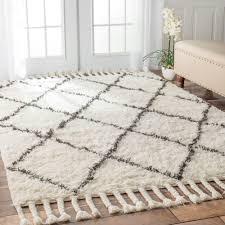 practical moroccan trellis rug ottomanson contemporary gray 5 ft x 7 area
