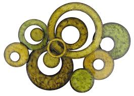 pacific home metal wall art circle design in green amazon uk kitchen home on lime green metal wall art uk with pacific home metal wall art circle design in green amazon uk