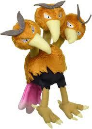 Dodrio Triple Bird Pokemon Plush Toy Dodorio Pokedoll Stuffed Animal Figure  12