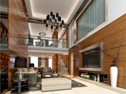 Wooden Wall Designs Living Room Wooden Wall With Lamps Interior Design