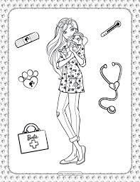This worksheet will help your child practice with the uppercase letter. Printable Barbie Pet Vet Coloring Page