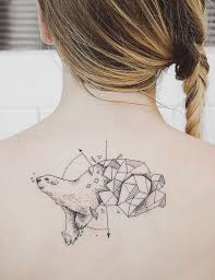 beautiful tattoos vibrant colors inspired by nature com minimal geometrical nature animals tattoos design 5