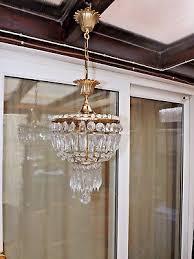 vintage french style basket shape crystal chandelier