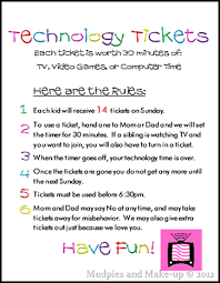 Make Free Tickets Mudpies And Make Up Technology Tickets And Free Printables