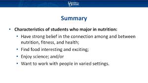 summary majors applied nutrition tetics nutritional sciences
