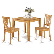 oak square table and 2 chairs 3 piece dining set furniture kitchen chair set