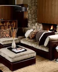 chenille leather sectional sofa five