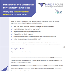 Direct Route Standing Order Form Direct Route