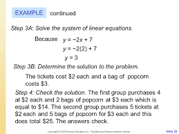 step 3a solve the system of linear equations