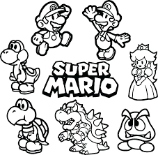 Coloring Pages Mario Baby Mario Coloring Pages And Ng Pages Free Printable Baby