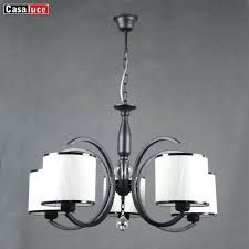 chandelier with black shade and crystal drops high quality modern simple design fabric shade crystal chandelier with black shade and crystal drops