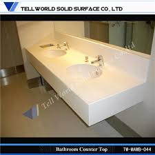Bathroom  Vanity Cabinet Materials What Are Solid Surface Solid Surface Bathroom Countertop Options