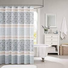 Modern shower curtains Large Floral Print Image Unavailable Aliexpress Amazoncom Madison Park Mp702493 Dawn Cotton Shower Curtain 72x72