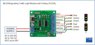 tlc2a traffic lights module common anode blocksignalling led traffic light controller for 5v dc
