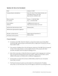 Executive Summary Sample For Proposal Executive Summary Format Template