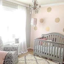 pink baby girl nursery bedding glam and gold via