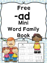 Word With Ad 2 Free Cvc Ad Word Family Worksheets Build A Mini Book