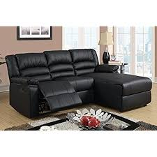 brown leather sectional couches. Exellent Brown Black Bonded Leather Sectional Sofa With Single Recliner Throughout Brown Couches