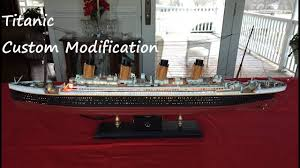 Titanic Model With Led Lights Titanic Model Custom Modification