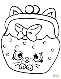 Coloring Pages Petkins Cat Snout Shopkin Coloring Page Free