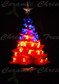 Red White And Blue Christmas Lights Red White And Blue Ceramic Christmas Tree 11 In Ceramic