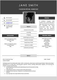 Cv Retail Fashion Retail Curriculum Vitae