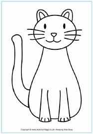 Small Picture Cat Coloring Page