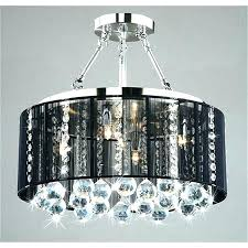 drum shade crystal chandelier crystal chandelier with black drum shade with regard to new household crystal chandelier with black drum shade decor white