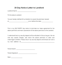 30 day notice to landlord form day notice letter template large eviction form 30 california