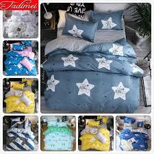 big stars grey duvet cover 3 bedding set kids soft cotton bed linen single full queen king size bedspreads 180x220cm bedding modern duvet cover