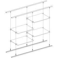 suspended shelves from ceiling ceiling floor railing suspended ceiling shelf