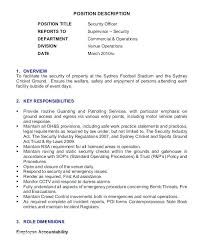 Sample Resume For Security Guard Sample Resume For Security Officer Sample Resume For Security