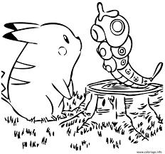 Coloriage De Reptincel Dessin Pokemon A Imprimer Sacha Et Pikachu L L L L