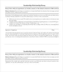 leadership essay samples examples format  leadership scholarship essay sample