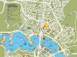 canberra city map  visitcanberra