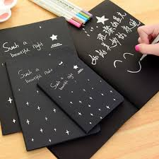 Hot <b>Sketchbook Diary</b> drawing Painting graffiti black <b>paper 28</b> ...